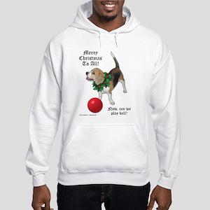 Christmas Beagle Hooded Sweatshirt