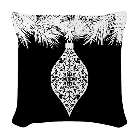 Gothic Pattern Christmas Ornament Woven Throw Pill