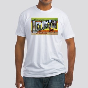 Lexington Kentucky Greetings (Front) Fitted T-Shir