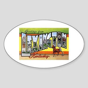 Lexington Kentucky Greetings Oval Sticker