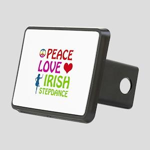 Peace Love Irish Stepdance Rectangular Hitch Cover