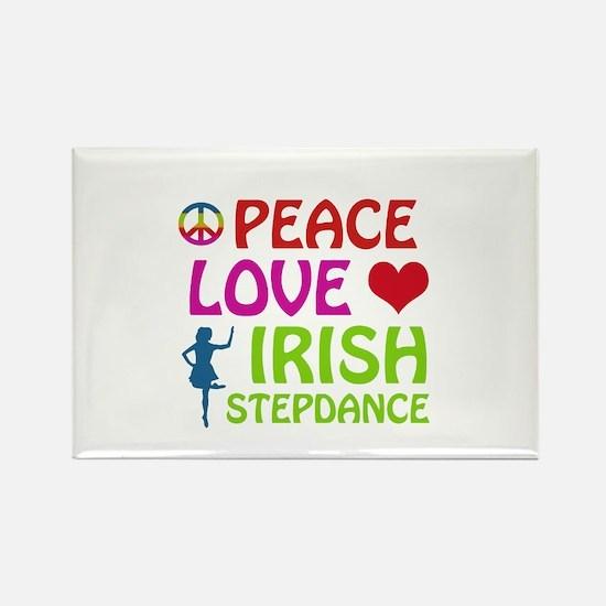 Peace Love Irish Stepdance Rectangle Magnet