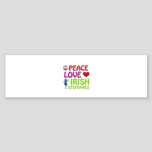 Peace Love Irish Stepdance Sticker (Bumper)