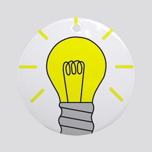 Light Bulb Idea Ornament (Round)