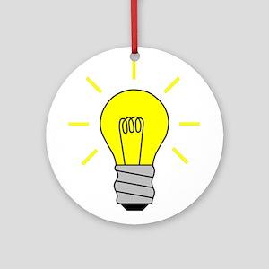 Light Bulb Idea Ornament (Round)