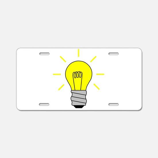 Light Bulb Idea Aluminum License Plate