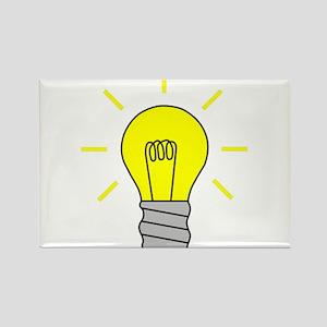 Light Bulb Idea Rectangle Magnet