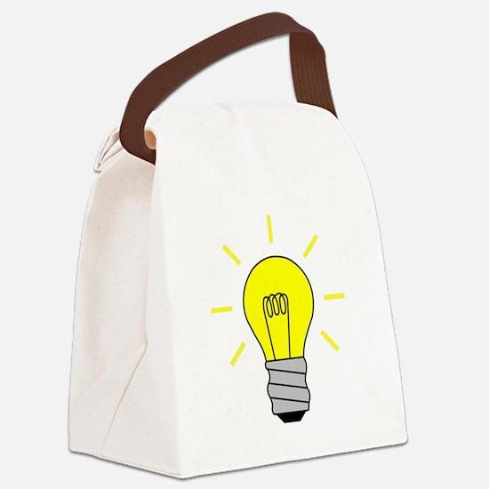 Light Bulb Idea Canvas Lunch Bag