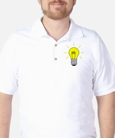 Light Bulb Idea Golf Shirt