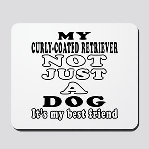 Curly-Coated Retriever not just a dog Mousepad