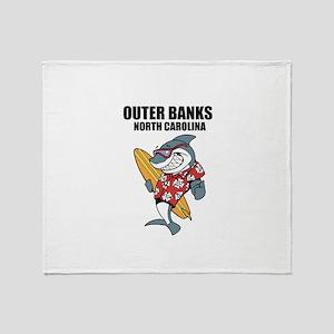 Outer Banks, North Carolina Throw Blanket