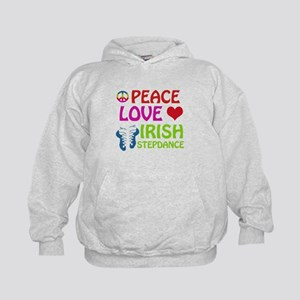 Peace Love Irish Stepdance Kids Hoodie