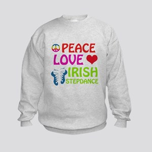 Peace Love Irish Stepdance Kids Sweatshirt