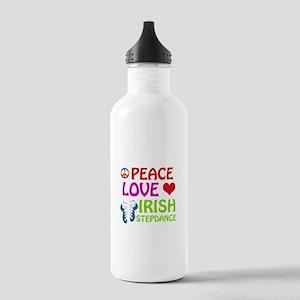 Peace Love Irish Stepdance Stainless Water Bottle