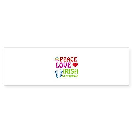 Peace Love Irish Stepdance Sticker (Bumper)