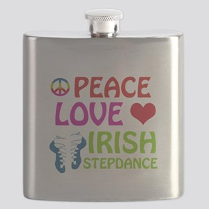 Peace Love Irish Stepdance Flask