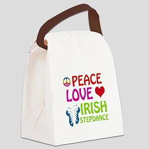 Peace Love Irish Stepdance Canvas Lunch Bag