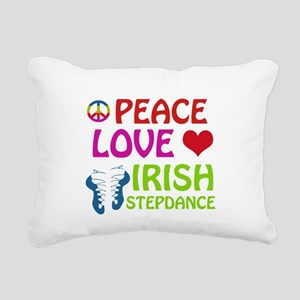 Peace Love Irish Stepdance Rectangular Canvas Pill