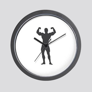 Bodybuilder Bodybuilding Wall Clock