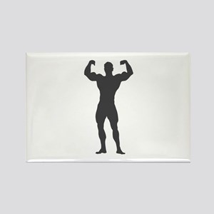 Bodybuilder Bodybuilding Rectangle Magnet