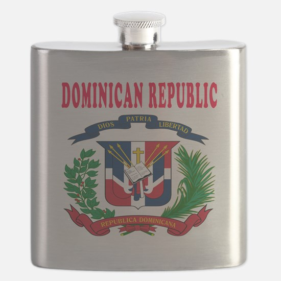Dominican Republic Coat Of Arms Designs Flask