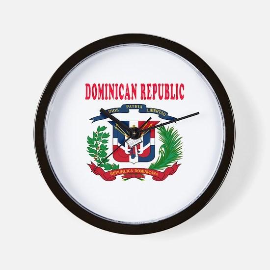 Dominican Republic Coat Of Arms Designs Wall Clock