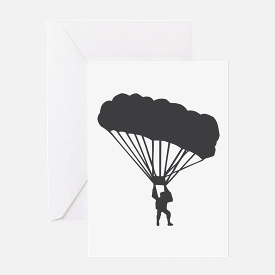 Skydiving Parachuting Greeting Card