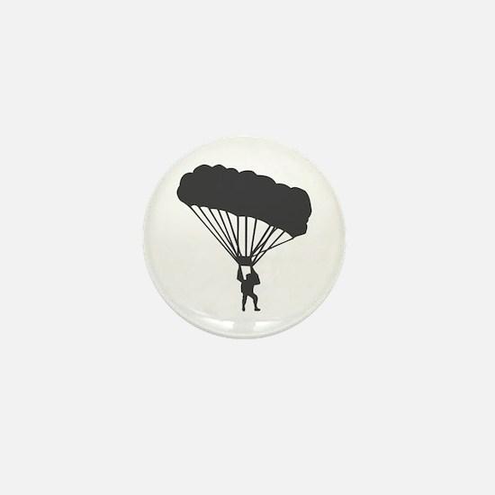 Skydiving Parachuting Mini Button