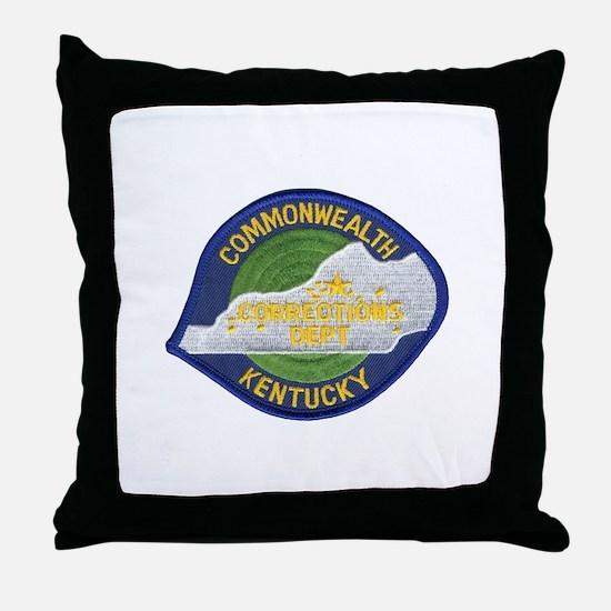 Kentucky Corrections Throw Pillow