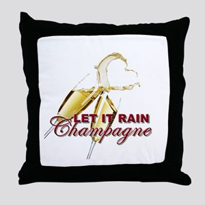Let It Rain Champagne Throw Pillow