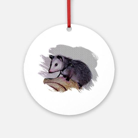 Baby Possum Ornament (Round)