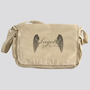 Angels Got My Back Messenger Bag