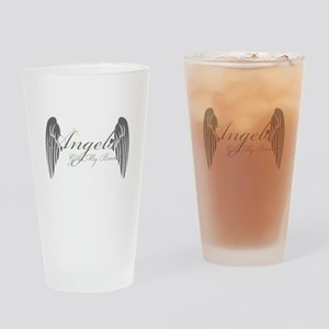 Angels Got My Back Drinking Glass
