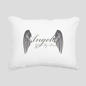 Angels Got My Back Rectangular Canvas Pillow