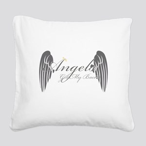 Angels Got My Back Square Canvas Pillow