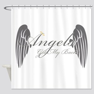 Angels Got My Back Shower Curtain