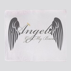 Angels Got My Back Throw Blanket
