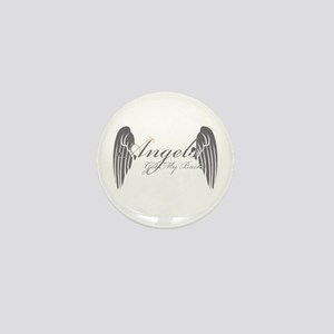 Angels Got My Back Mini Button