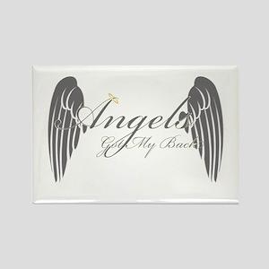 Angels Got My Back Rectangle Magnet
