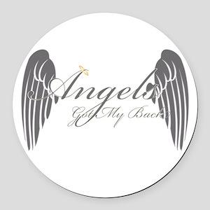Angels Got My Back Round Car Magnet