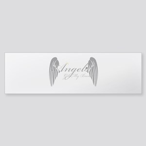 Angels Got My Back Bumper Sticker