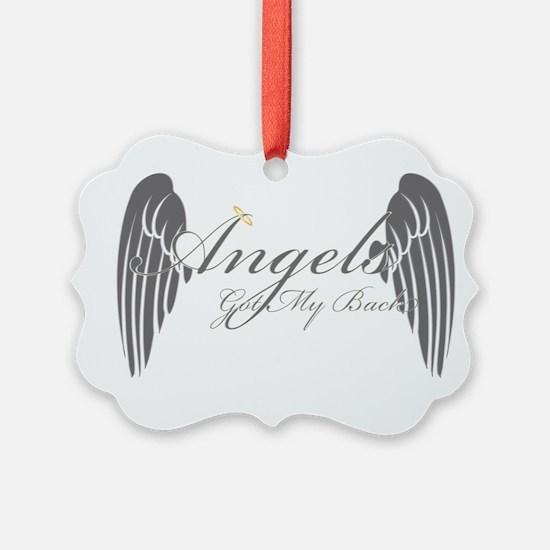 Angels Got My Back Ornament