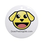 Doesthedogdie.com Round Ornament