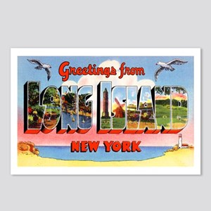 Long Island New York Greetings Postcards (Package
