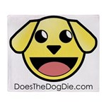 Doesthedogdie.com Throw Blanket