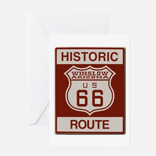 Winslow Historic Route 66 Greeting Card