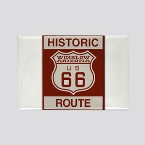 Winslow Historic Route 66 Rectangle Magnet