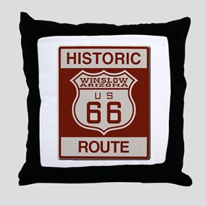 Winslow Historic Route 66 Throw Pillow