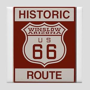 Winslow Historic Route 66 Tile Coaster