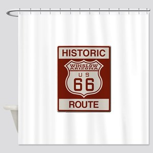 Winslow Historic Route 66 Shower Curtain
